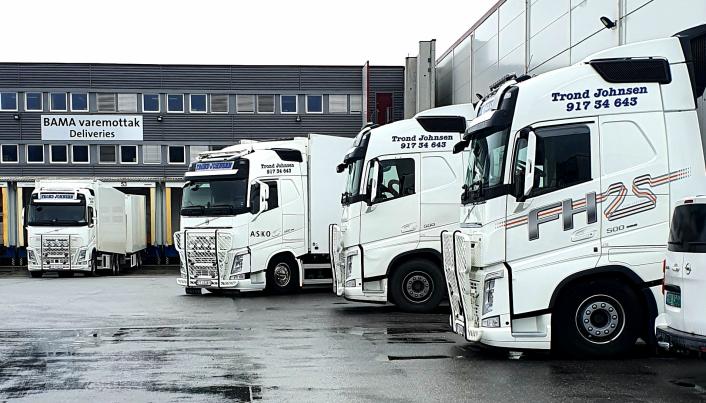STØRSTE: Askos lager i Brumunddal er base og utgangspunkt for mye av det Trond Johnsens biler transporterer.