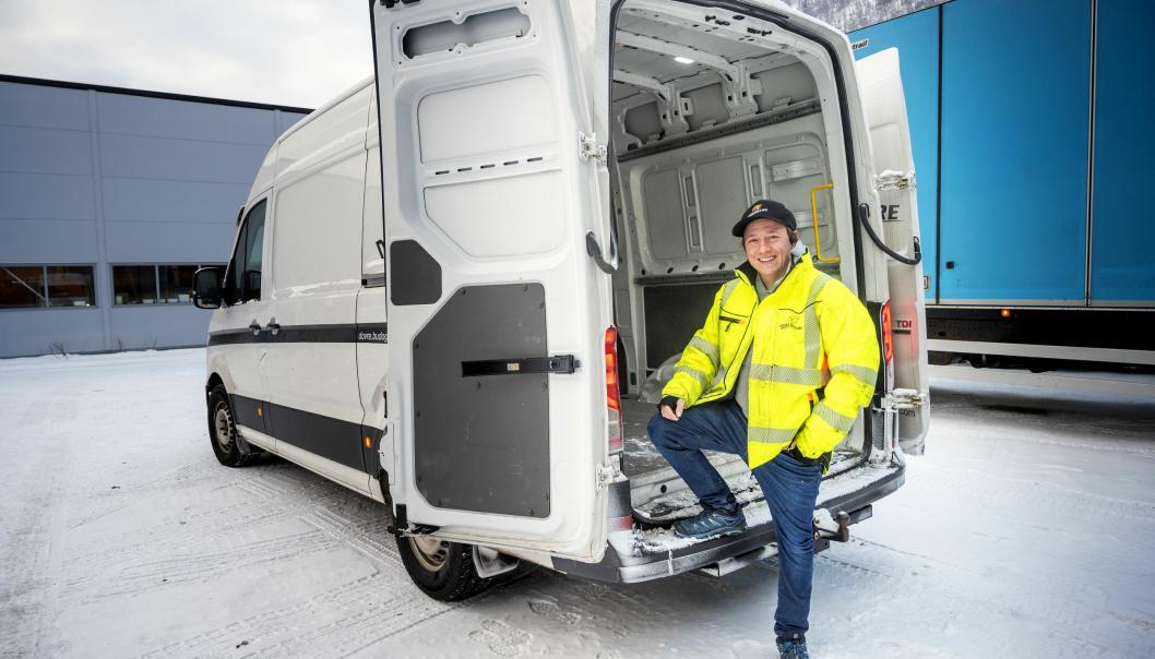 VARIERT: Bilparken består av både distribusjonsbiler, containerbiler trekkvogner og varebiler.