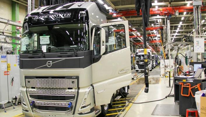 I GANG: Produksjonen er først i gang ved fabrikken i Gøteborg.