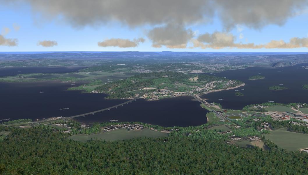Regjeringen har bestemt at Fellesprosjektet E16 Ringeriksbanen skal bygges av Nye Veier AS, istedenfor av Statens vegvesen og Bane Nor. Slik kan det bli seende ut når jernbanen krysser Tyrifjorden med ny stasjon ved Sundvollen og E16 krysser den ved Rørvik.