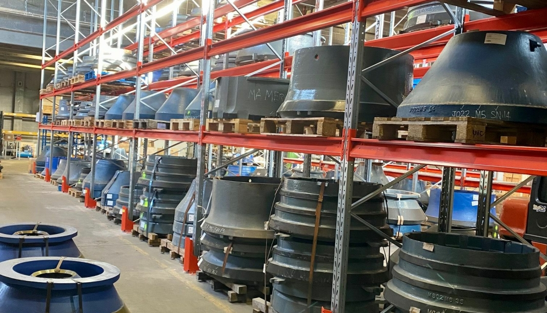 Bilde fra Scandia Maskins lager i Drammen.