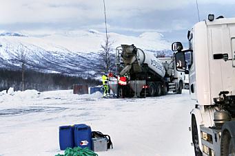 Mye å vinne på å holde betongen varm under vintertransport