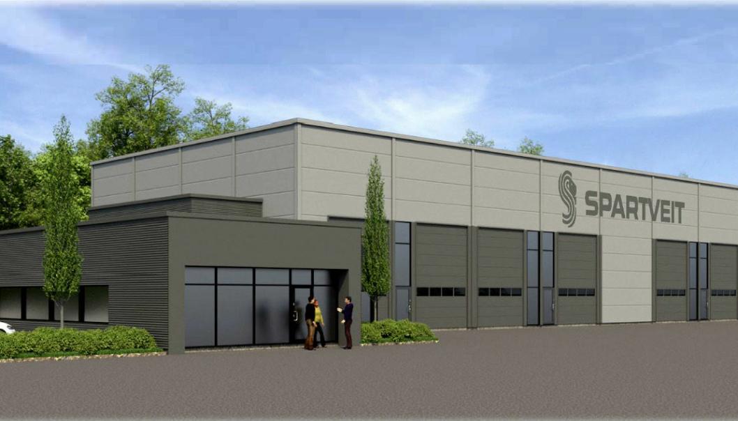NYBYGG: Neste sommer skal det 1250 kvadratmeter store nybygget stå klart i Larvik.