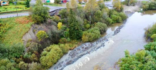 Grøftegraving i elv utløste kvikkleireskred
