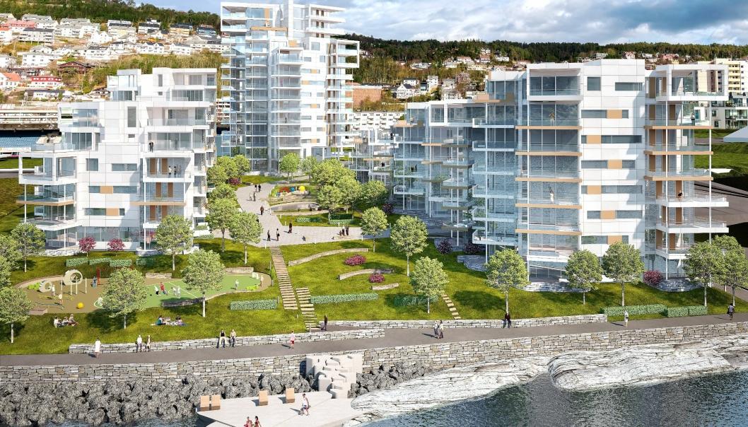 Når tredje og siste byggetrinn av Fri Sikt står innflyttingsklart i 2023, har det vokst frem en helt ny bydel med 158 leiligheter på Volsdalsberga, like ved Color Line Stadion i Ålesund. Siste byggetrinn består av en høyblokk på 14 etasjer.
