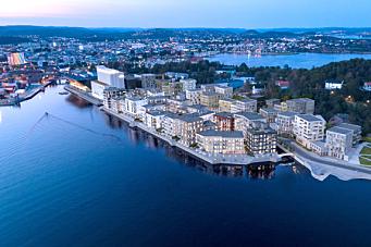 Veidekke skal bygge P-hus i fjell i Kristiansand