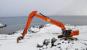 NY: Denne langarmede Cat 340-graveren er igså helt ny. Foto: Klaus Eriksen