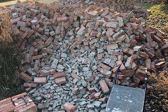 Gammel murstein i nye bygg