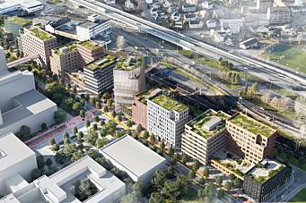 Mye grunnarbeid på Drammen Helsepark