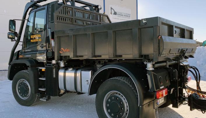 KORT: Kassa er bare 2,7 meter lang og 2,3 meter bred. Det er den minste kassa Traktor og Maskin har laget.