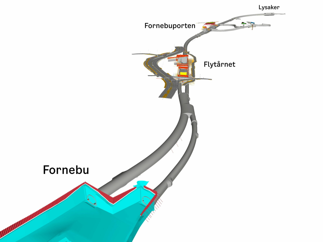 FORNEBUBANEN: Visualisering av Fornebubanen.
