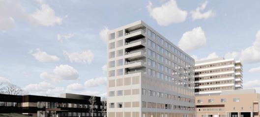Veidekke skal bygge sykehusbygg med åtte etasjer
