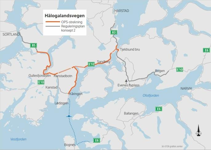 Hålogalandsveien: 82 km vei skal bygges med Norges strengeste miljø- og utslippskrav.