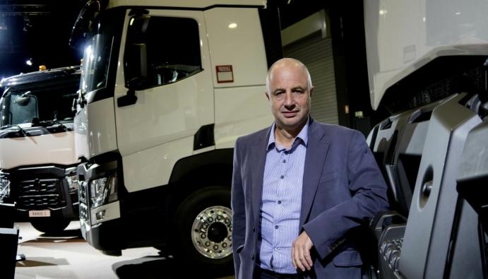 Bruno Blin, konsernsjef for Renault Trucks har stor tro på hydrogen for langtransport.