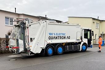Test av avfallsbil på batteri