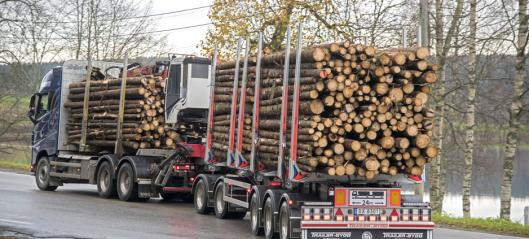 65 millioner kroner til fylkesveier for tømmertransport