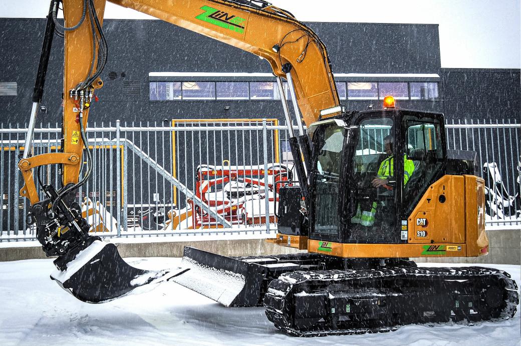 Bilde fra overlevering i vinter av en rekke Z-Line-maskiner.