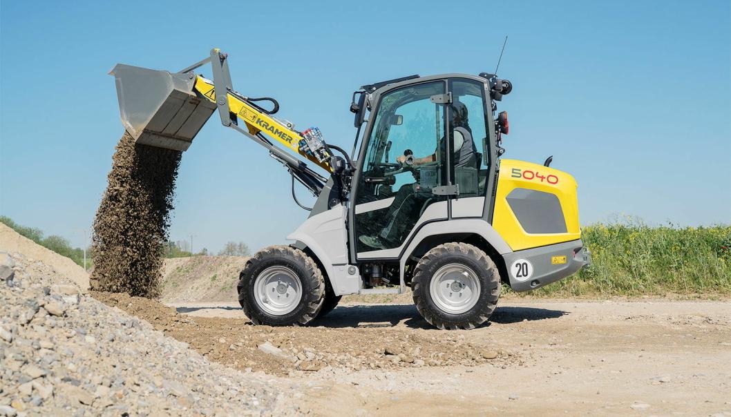 KOMPAKT: Kramer 5040 veier to tonn og har 1,4 tonns løftekapasitet. Maskinen er på vei inn på det norske markedet nå. Foto: Kramer