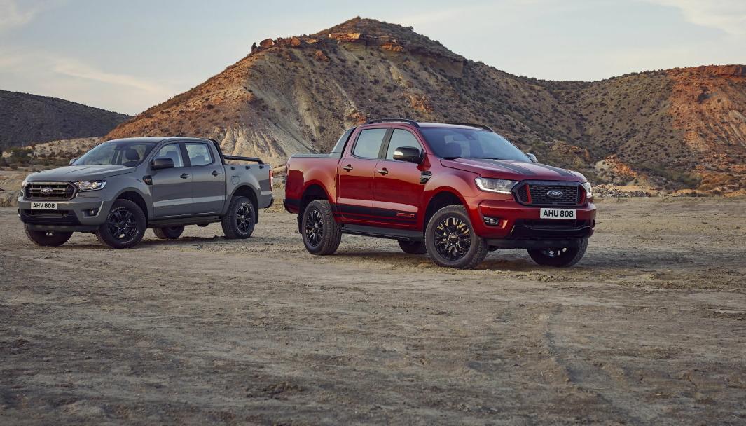Kommer: Ford Ranger Wolftrak t.v. og Ford Ranger Stormtrak lanseres begge høsten 2021.