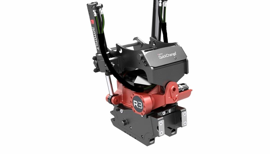 NYHET: Med lanseringen av QC45-4 og QC45-5 kan Rototilt tilby helautomatiske hurtigkoblingssystemer til kompakte maskiner.