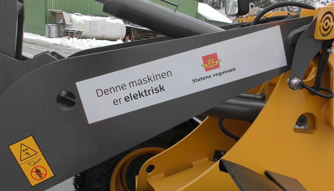 Elektriske kjøretøy er et av flere tiltak som skal få ned CO2-utslippet i den nye driftskontrakten for riksvegene i Hallingdal og Valdres. (Illustrasjonsfoto: Ellinor Hansen, Statens vegvesen).