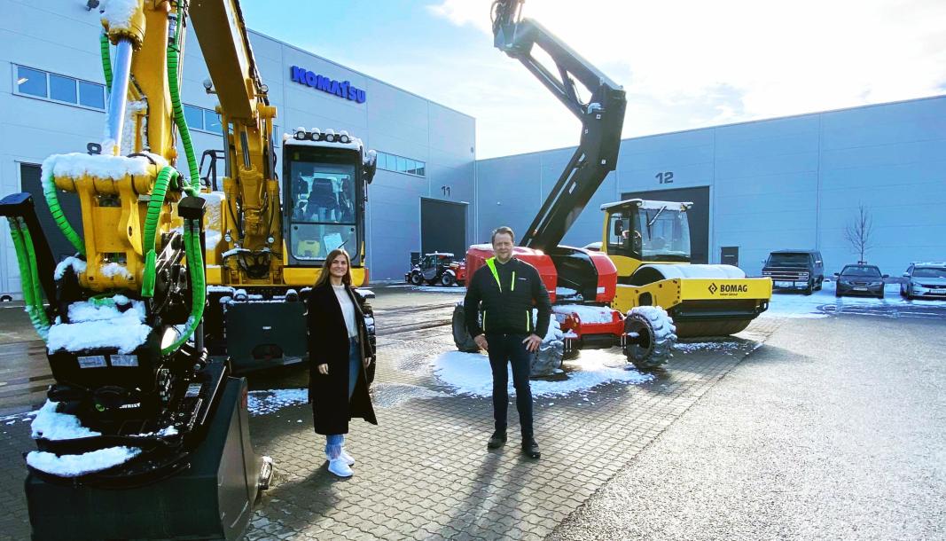 I Hesselberg Rental AS er salgssjef Håkon Emil Bayard og markedskoordinator Malin Nygård ansatt.
