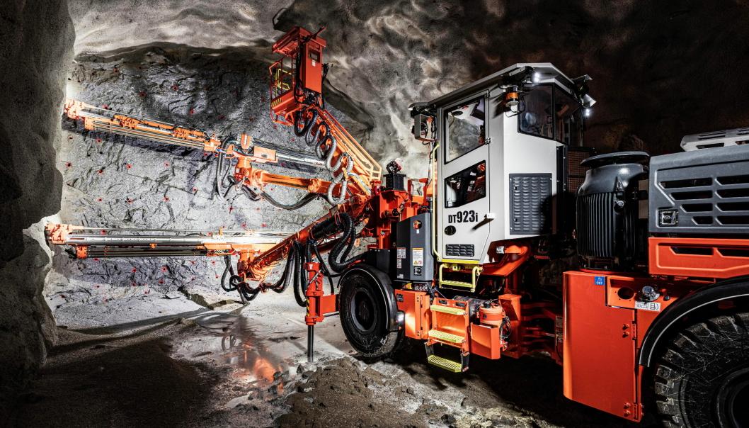 LANSERT: Sandvik DT923i er en ny toboms tunnelrigg som er lansert våren 2021. Foto: Sandvik