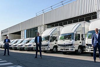 Setter 25 nye elektriske laste- og varebiler i drift denne våren