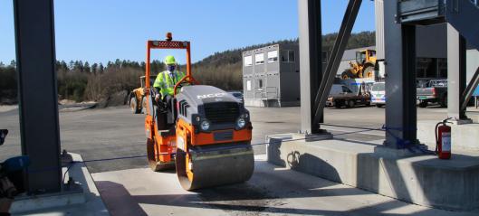 NCC har startet opp ny asfaltfabrikk på Sørlandet