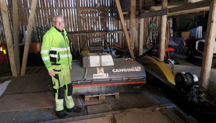 SKOGSRYDDING: Blant spesialutstyret har Larsen også et skogsryddingsaggregat fra italienske Cangini, levert av Ankerløkken Equipment.