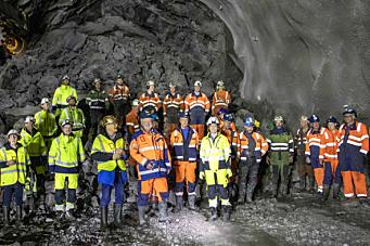 Gjennomslag i Fjørtoftfjord-tunnelen