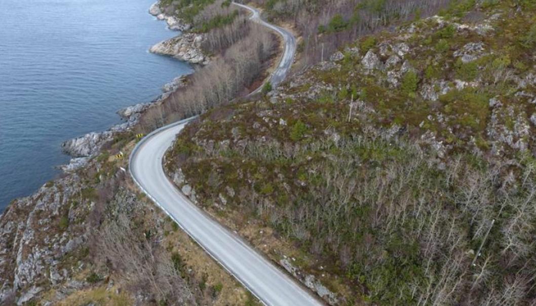 Det skal bygges ny og tryggere fylkesvei 717 mellom Sund og Bradden i Trøndelag.