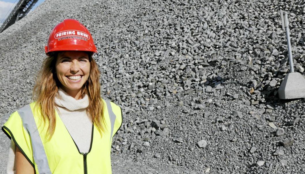 Margrethe Ollendorff, ansvarlig for innovasjon og forretningsutvikling og medeier i Feiring Bruk AS, tilbyr fra høsten 2021 både steinprodukter og biogass ved anlegget i Lørenskog.