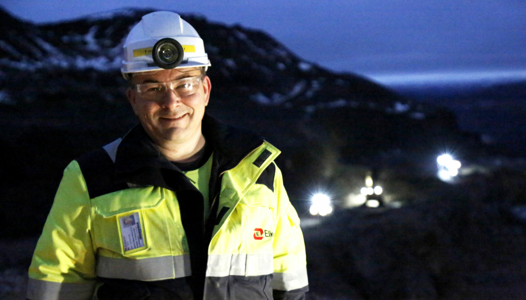 LOKALE: Produksjonsleder Tom Ivar Utsi bor i Austertana. Halvparten av de ansatte bor rett ved gruven, resten i Øst-Finnmark.