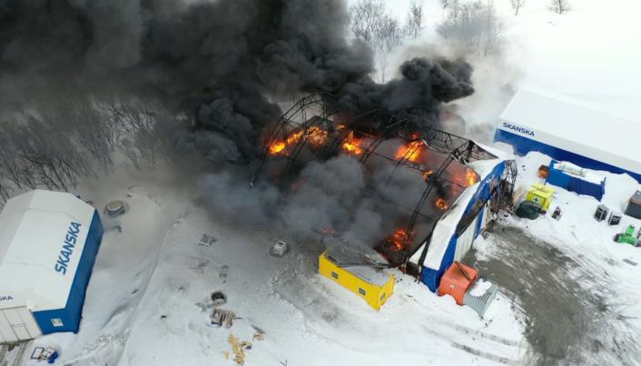Brann: Høy varmeutvikling kan ha medvirket til at brannårsaken ikke ble funnet.