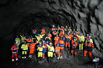 Gjennomslag i Nogvafjord-tunnelen