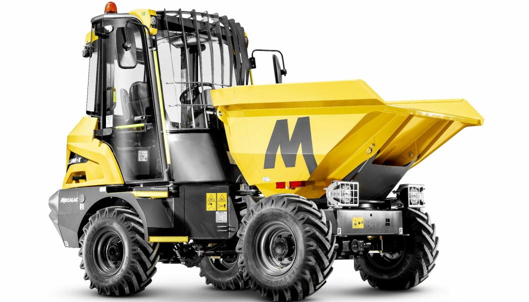 NY DUMPER: Med lansering av ny «site-dumper» med 3,5 tonns lastekapasitet supplerer Mecalac dumper-serien. Foto: Mecalac