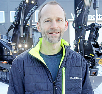 INTERESSANT: - En maskin som er interessant for norske brukere og som vi vurderer å ta inn, sier Christian Beck i Beck Maskin AS. Foto: Klaus Eriksen