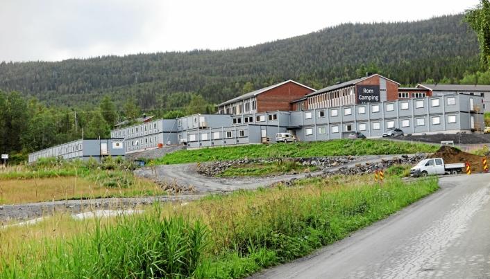 DYRT: Riggkostnadene er vesentlige på store prosjekter. Her fra utbyggingen av E6 Helgeland Sør og brakkeriggen til Skanska. Foto: Bjørn E. Eriksen