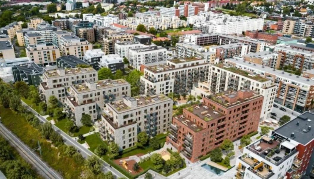AF Gruppen skal bygge leiligheter for Eiendomsplan og USBL på Løren i Oslo.