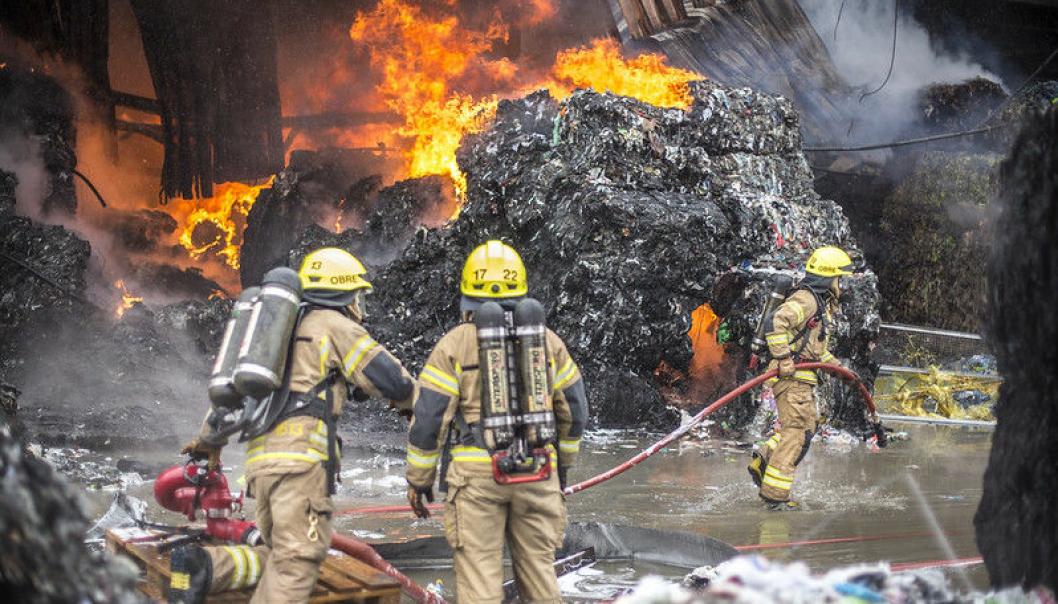 Fra 2016 til mars 2021 er det registrert 228 branner i norske avfallsanlegg.