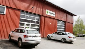 FANT TIL SLUTT: Selskapet fant til slutt lokalene på 390 m2, med to kjøreporter, etter mange års leting. Foto: Klaus Eriksen