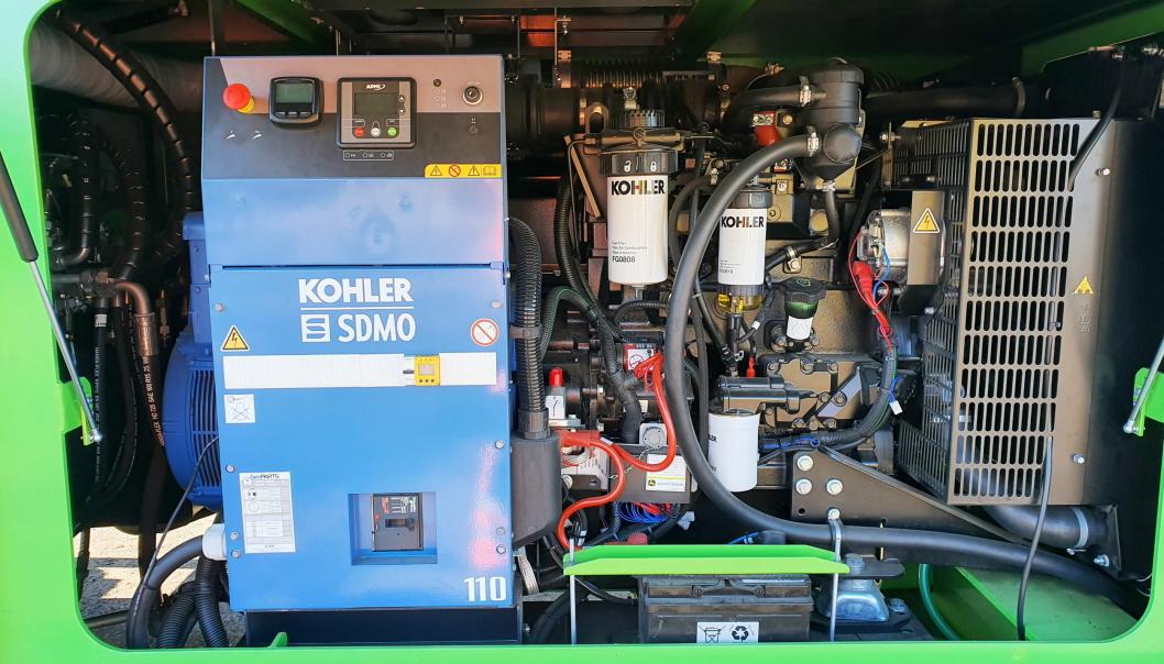 PÅ INNSIDEN: Strømgenerator i Neuenhauser NH6020 elektriske trommelsikt.