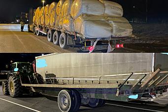 Lastebilsjåfør uten førerkort skulle frakte semitrailer på traktorhenger