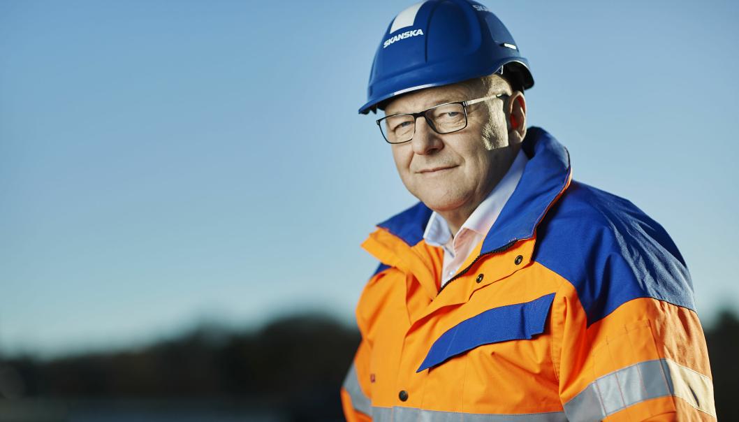 Konserndirektør for anleggsvirksomheten i Skanska Norge, Steinar Myhre.