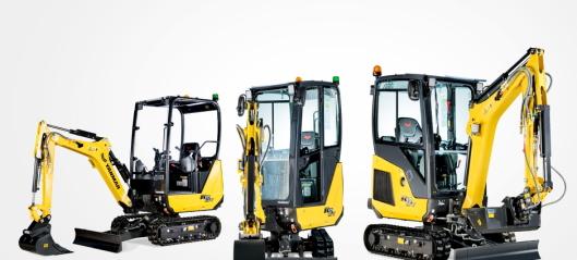 Tre nye Yanmar-maskiner