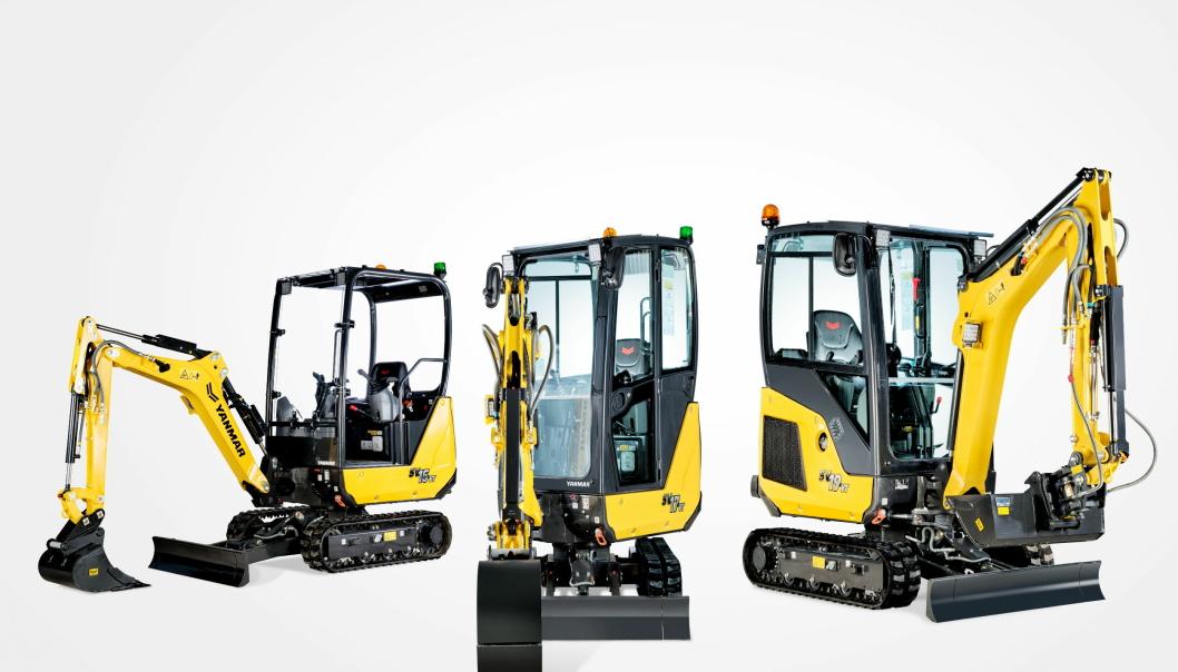 KLARE: Yanmar har utvidet med tre oppgraderinger på minimaskiner fra 1,5 til 1,9 tonn. Foto: Yanmar