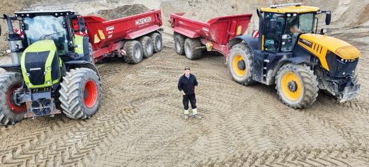 Roy Mosengen har mye traktor-power!