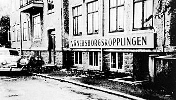 Det var i denne kjelleren på Södra Järnvägsgatan 31 i sentrum av Vänersborg Herman Krefting startet med montering av hengerfester i 1951.