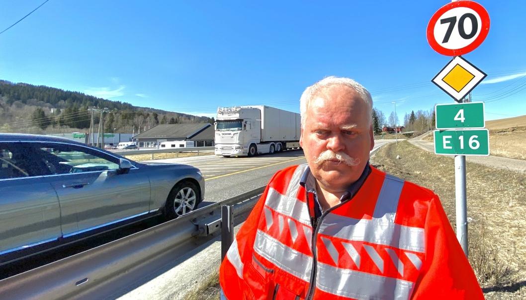 Prosjektleder Odd Johansen er meget godt fornøyd med interessen for å bygge ny riksvei 4 på Hadeland.